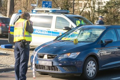 Der Unfall ereignete sich an der Grünthaler Straße.