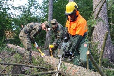 Bereits im vergangenen Jahr kamen Soldaten der Bundeswehr in den Wäldern zum Einsatz.