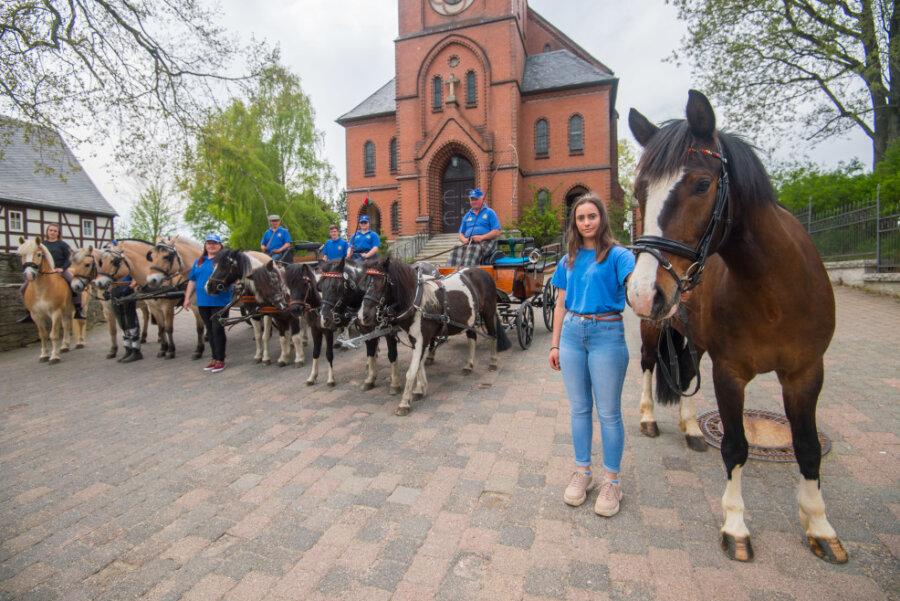 Dorfchemnitz: Zwönitzer Pferdesportler setzen ein Zeichen