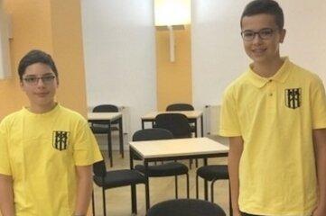 Sebastian Eccarius (links) und John Heinrich zeigten beim Turnier in Leipzig gute Leistungen.