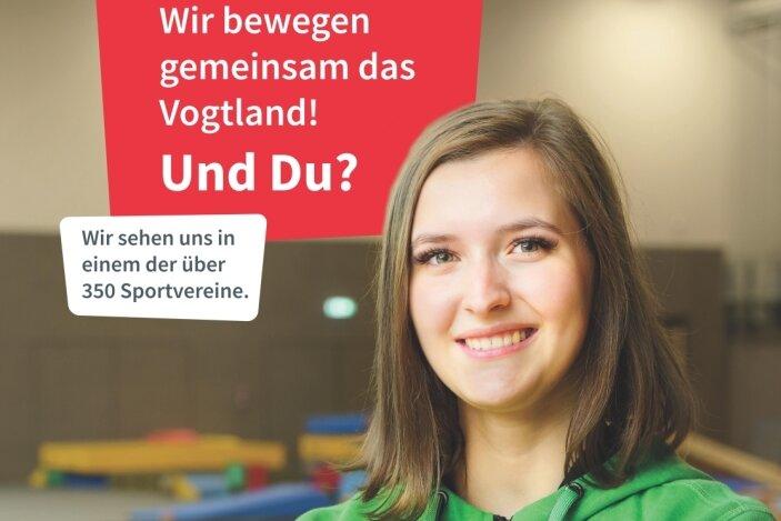 Linda Schreiner, Übungsleiterin bei Cheermania Auerbach, ist eines der Gesichter der Kampagne.