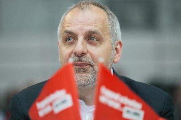Der sächsische Landesvorsitzende der Partei Die Linke, Rico Gebhardt, auf dem Landesparteitag in Radebeul.