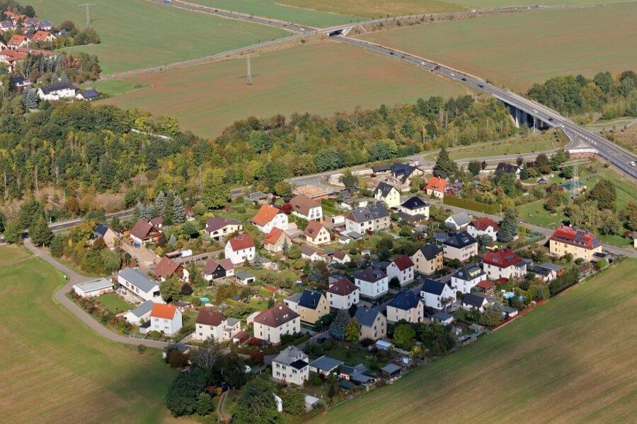 Blick auf einen Teil der Gemeinde Lichtentanne.