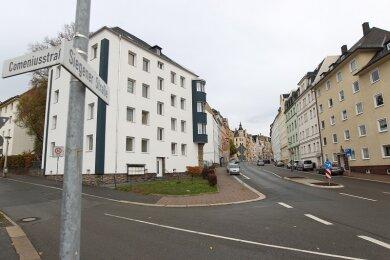 In diesem Bereich in Plauen ereignete sich die Tat.