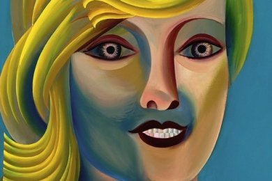 """Eine Ikone ihrer selbst: Sebastian Gögels Porträt """"Scorpion"""" (2015). Die Gemälde des Leipziger Künstlers führen im Museum Gunzenhauser spannende Dialoge mit Werken der Neuen Sachlichkeit."""