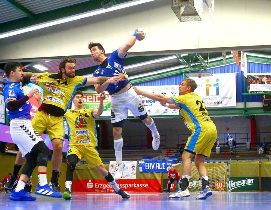 2. Handball-Bundesliga: EHV Aue holt zu Hause eine Zähler
