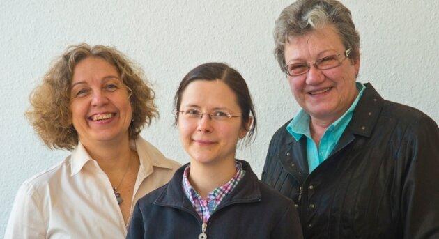 Es berieten: Kerstin Mahlendorff, Paartherapeutin aus Chemnitz, Daniela Hofmann und Sondra Feigel von der Verbraucherzentrale Sachsen in Chemnitz (von links).