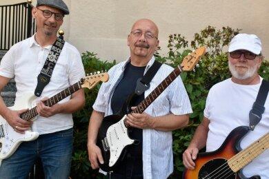 Die Smaragd-Band (von links): Thomas Schindel, Peter Walther und Hermann Reimann.