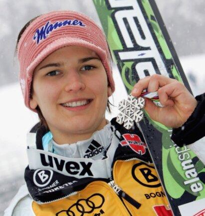 Höhepunkt der sportlichen Karriere: 2009 gewann die damals 21-jährige Ulrike Gräßler bei den ersten Weltmeisterschaften der Skispringerinnen in Liberec Silber. Nach dem ersten Durchgang hatte sie sogar geführt.