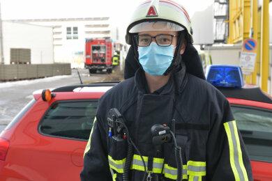 Björn Rosenkranz war gemeinsam mit weiteren Kräften der Feuerwehren Freiberg und Zug beim Brand vor Ort.