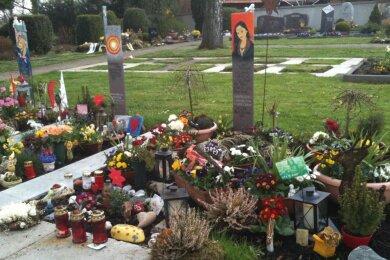 Das Grab von Uwe Schills Tochter Chantal. Gestorben mit 15 Jahren durch Schüsse eines Amokläufers.
