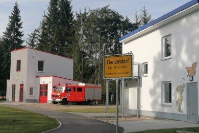 """Das Floriansdorf auf dem Gelände des Kiez """"Am Filzteich"""" befindet sich auf Hartmannsdorfer Flur."""