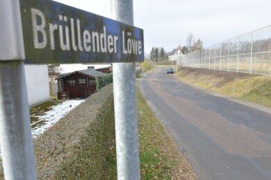 Die Straße Brüllender Löwe in Brand-Erbisdorf braucht ebenso eine Kur.