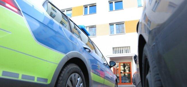 Der Tatort, ein Haus an der Straße der Deutschen Einheit.