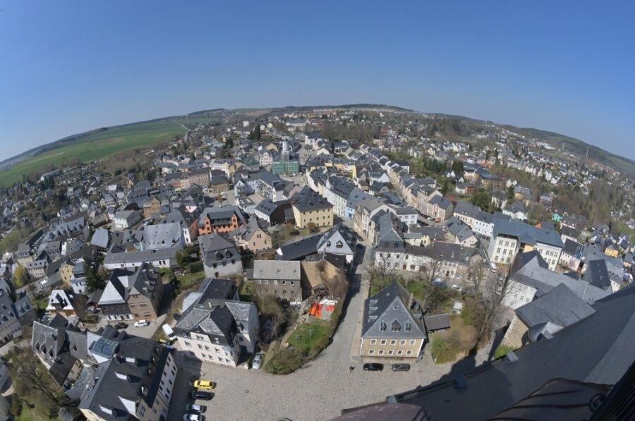 Schneeberg im Blick vom Kirchturm St. Wolfgang.