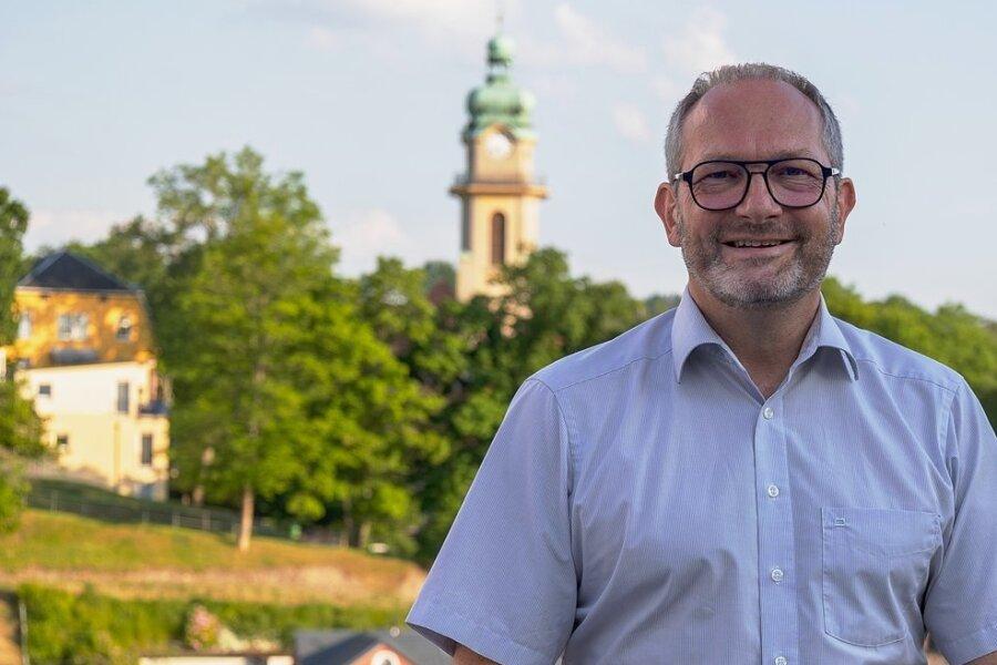 Jens Scharff möchte im nächsten Jahr als Auerbacher Oberbürgermeister kandidieren. Er stellte sich jetzt im Ortsteil Reumtengrün vor.
