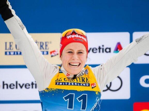 Überzeugte bei der Tour de Ski: Langläuferin Katharina Hennig.