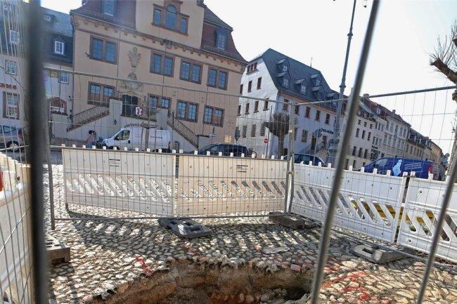 Auf dem Waldenburger Markt klafft erneut ein Loch.