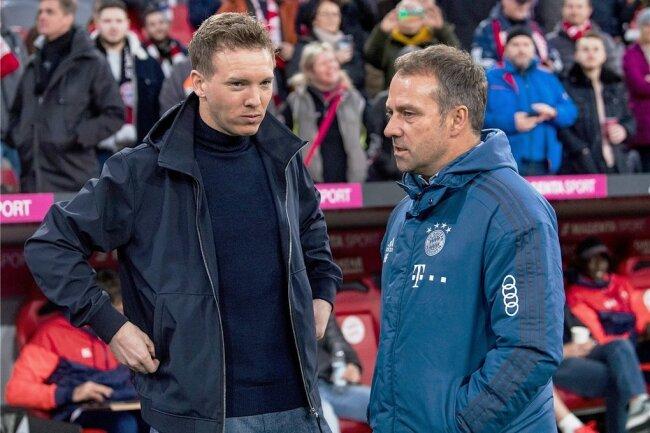 Julian Nagelsmann (l.) wird aller Voraussicht nach Trainer Hansi Flick beim FC Bayern München beerben.
