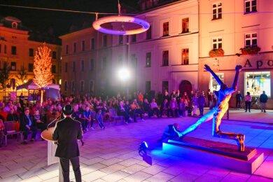 Die feierliche Eröffnung des Solbrigplatzes in Reichenbach