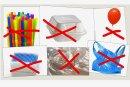 Trinkhalme, Wattestäbchen, Geschirr und bestimmte Verpackungen darf es künftig nicht mehr aus Kunststoff geben.