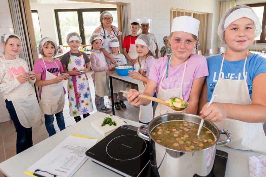 Junge Köche lernen Neues