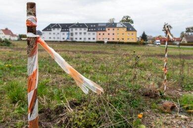 """Für das künftige Wohngebiet """"Lindengarten"""" an der Chemnitzer Straße in Penig steht die Erschließung an."""