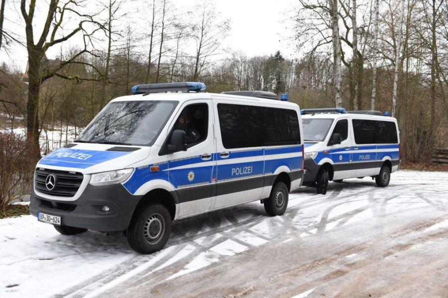 In Waldheim war die Polizei mit zahlreichen Kräften im Einsatz.