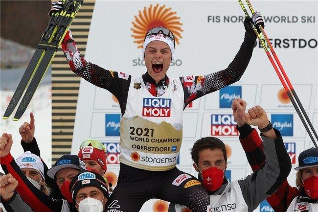 Kombinierer-König Johannes Lamparter: zweimal Weltmeister in einem Winter.