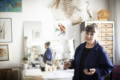 Marietta Jeschke in ihrem Atelier.