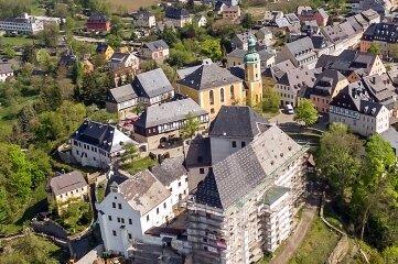 Auch im vergangenen Jahr wurde kräftig am Wolkensteiner Schloss gebaut.
