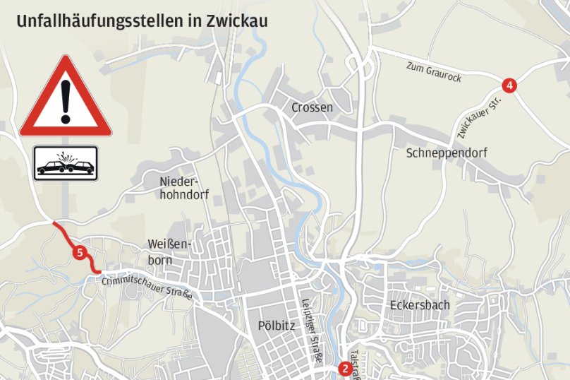Acht Stellen hat die Unfallkommission zuletzt für Zwickau in den Fokus genommen. In einigen Bereichen hat sich bereits etwas getan, andere sollen demnächst folgen.