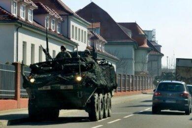 Ein US-Militär-Fahrzeug fuhr bereits 2018 durch Frankenberg.