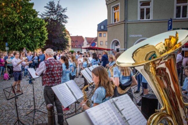 Zur Premiere der Fête de la Musique 2019 in Oederan unterhielten Musiker ihr Publikum auf drei Bühnen.
