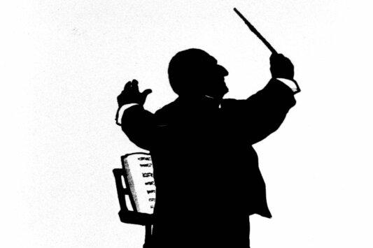 Anton Bruckner, hier auf einem zeitgenössischen Scherenschnitt von Otto Böhler, war als Persönlichkeit weit bescheidener als sein Zeitgenosse Richard Wagner. Seiner Musik merkt man das nicht unbedingt an.