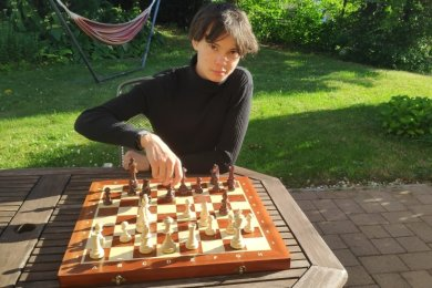 Tim Richter hat das Schachspielen neu für sich entdeckt. Im Herbst möchte er studieren.