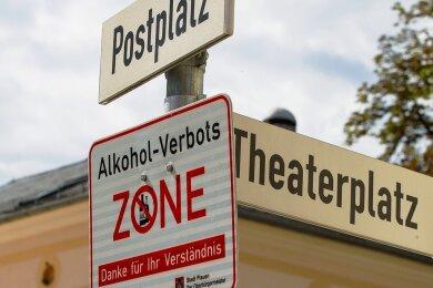 Passé: das Alkoholkonsumverbot in Plauen. Eine Verordnung dazu hätte auch in Mittweida kaum Chancen.