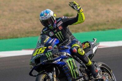 """115 Grand-Prix-Siege hat Valentino Rossi in seiner glanzvollen Karriere bislang eingefahren. Am Saisonende ist für den """"Dottore"""" Finito."""