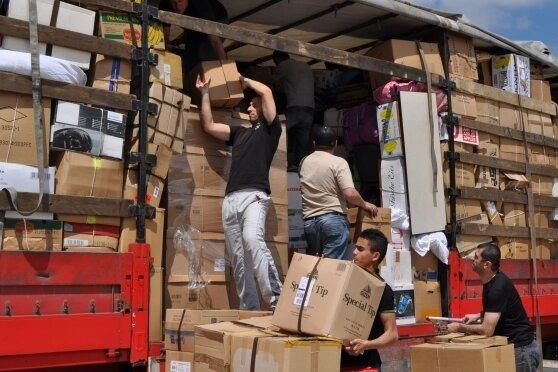 Im Juni wurde in Hainichen der erste Hilfstransport in die Ukraine geschickt.