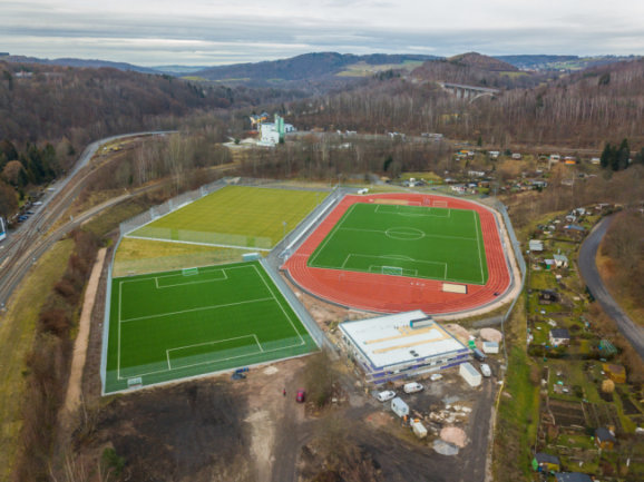 2021 soll der Bau des neuen Sport- und Freizeitzentrums in Aue fertig sein.