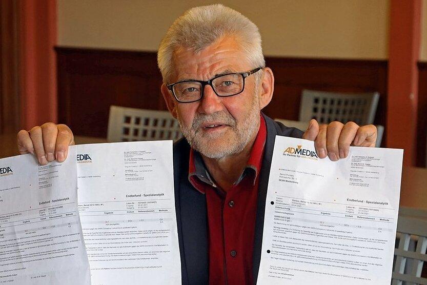 Bernd Pohlers hat nach seiner Covid-19-Infektion sein Blut bisher dreimal auf Antikörper untersuchen lassen.
