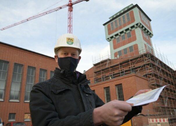 Die Bauarbeiten im Bergbaumuseum Oelsnitz kommen gut voran.