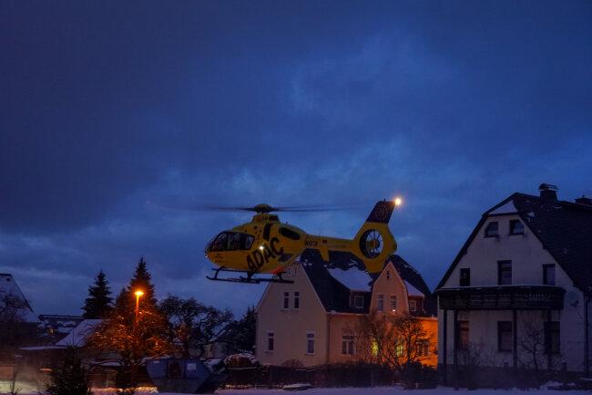 Im Ortsteil Hinterhain sorgte der Einsatz für viel Aufsehen.