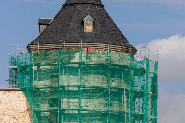 Der Rote Turm des ehemaligen Plauener Schlosses.