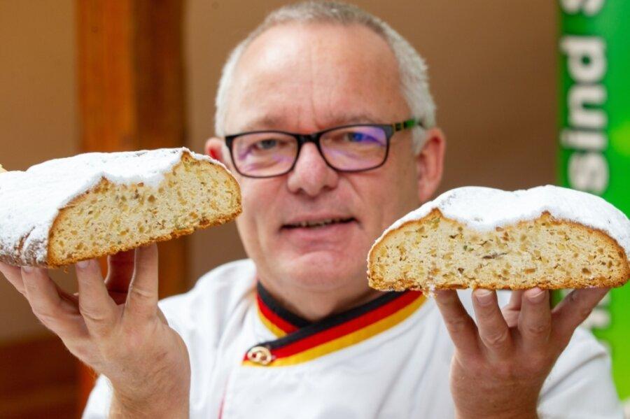 Stollenprüfer Michael Isensee testete diesmal in Plauen 32 Stollen von17 vogtländischen Bäckereien.