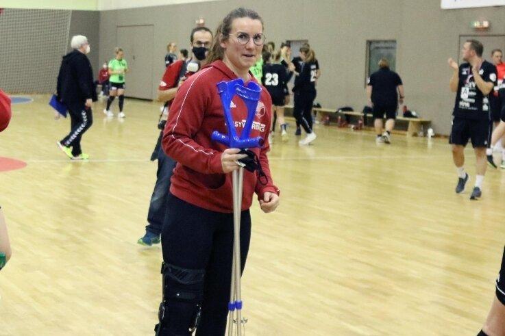 Die Krücken kann Isa-Sophia wieder wegstellen. Nach ihrer Knieverletzung ist die Kapitänin zurück im BSV-Kader.
