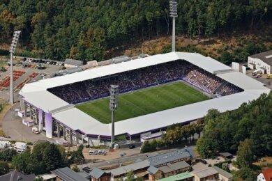 Das Stadion vom Verein Erzgebirge Aue.