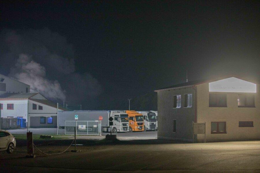 In einer Recyclingfirma in Langenau ist am Montagabend ein Feuer ausgebrochen.