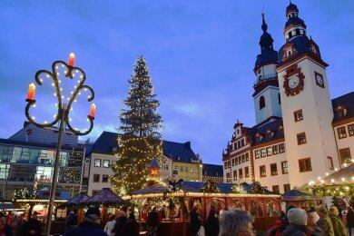 Der Chemnitzer Weihnachtsmarkt im Jahr 2019. Findet er in diesem Jahr wieder statt oder nicht?