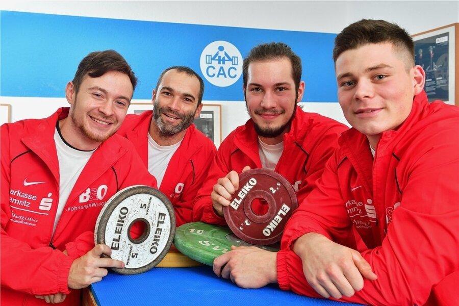 Christoph Pichler, Hendrik Wetzel, Julian Pianski und Kurt Perthel (v. l.) gehören zum Stamm des Bundesligateams.